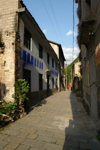 重庆巫溪宁厂古镇老街青石板路