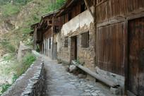 重庆巫溪宁厂古镇老旧的木板房