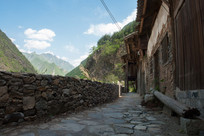 重庆巫溪宁厂古镇通向远方的石板路