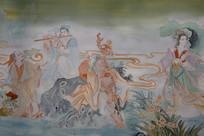 八仙人物彩色绘画