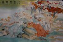 八仙醉酒彩绘绘画