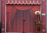 老上海风格仿古舞台背景