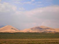 远眺的沙漠