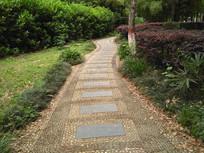 公园鹅卵石小路