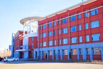 红色高楼异形建筑摄影