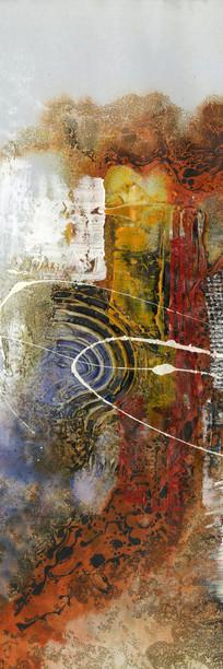 过道抽象油画壁画背景墙