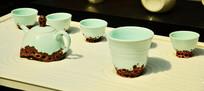 精美陶瓷茶壶茶杯摆件