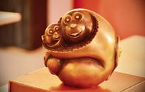 可爱十二生肖猴子铜雕摆件