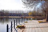 人工湖围栏局部图