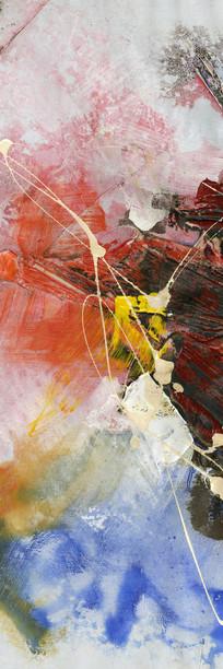 竖版抽象画 现代无框画