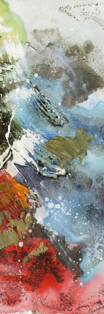 走廊抽象油画背景墙壁画