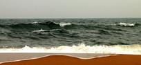 蓝色海浪图片