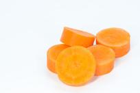 切成片的红萝卜