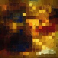 色块抽象油画色块