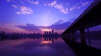 沙湖大桥夜景