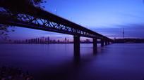 武汉长江大桥夜景