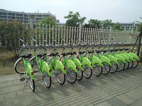 整齐的共享单车