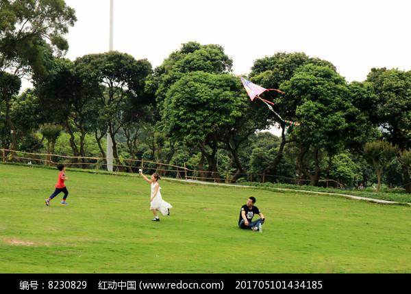 放风筝的一家人高清图片下载 编号8230829 红动网图片