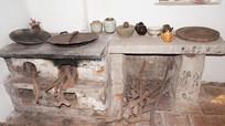 古老的砖头炉灶