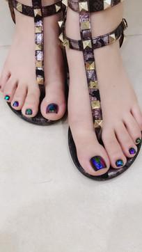 女人的脚趾