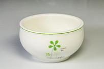 印花白瓷碗