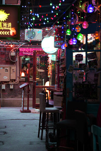 上海田子坊酒吧一角