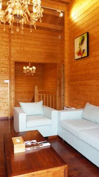 小木屋的客厅