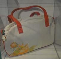 牡丹花纹帆布包