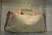 牡丹花纹麻布包