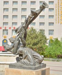 雕像陕北民俗唢呐