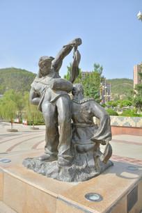 雕像陕北民俗腰鼓舞