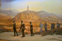 雕像陕北人民迎红军