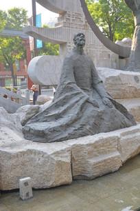 雕像诗圣杜浦