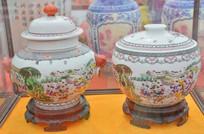 收藏品彩绘百子图瓷罐