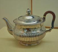 文物白银精品连柱纹茶壶