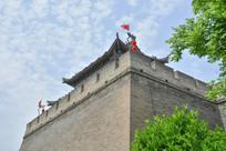 西安古城楼俯拍