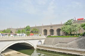 西安古城楼朱雀门