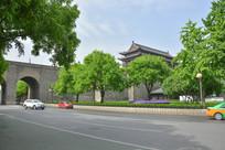西安古墙风景