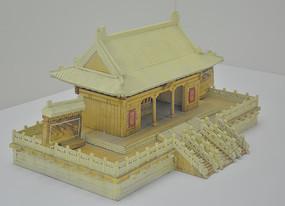 传统工艺木刻故宫宫楼
