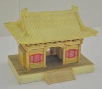 传统工艺木刻庙宇