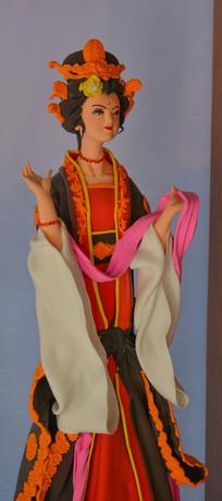 传统工艺泥彩杨贵妃