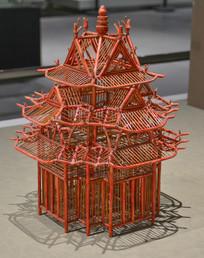 传统工艺竹编阁楼