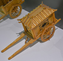 传统工艺竹编马车