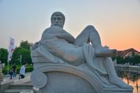 雕像古罗马男人体艺术