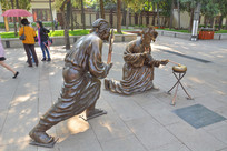 雕像皮影百戏