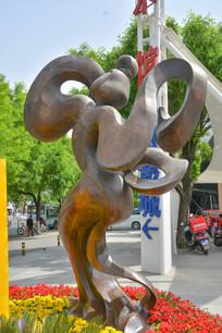 雕像唐代宫女跳舞