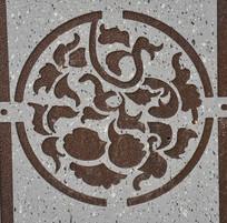 浮雕牡丹花纹