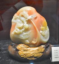 青田石雕刻龙腾盛世