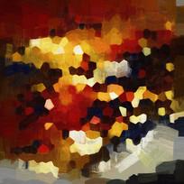 抽象画 复古装饰画