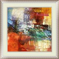 客厅卧室抽象油画装饰画